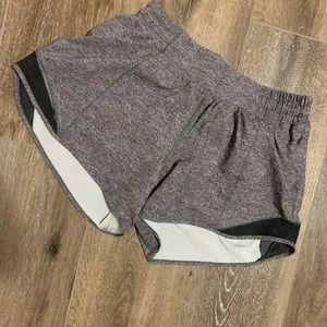 LULULEMON gray running shorts